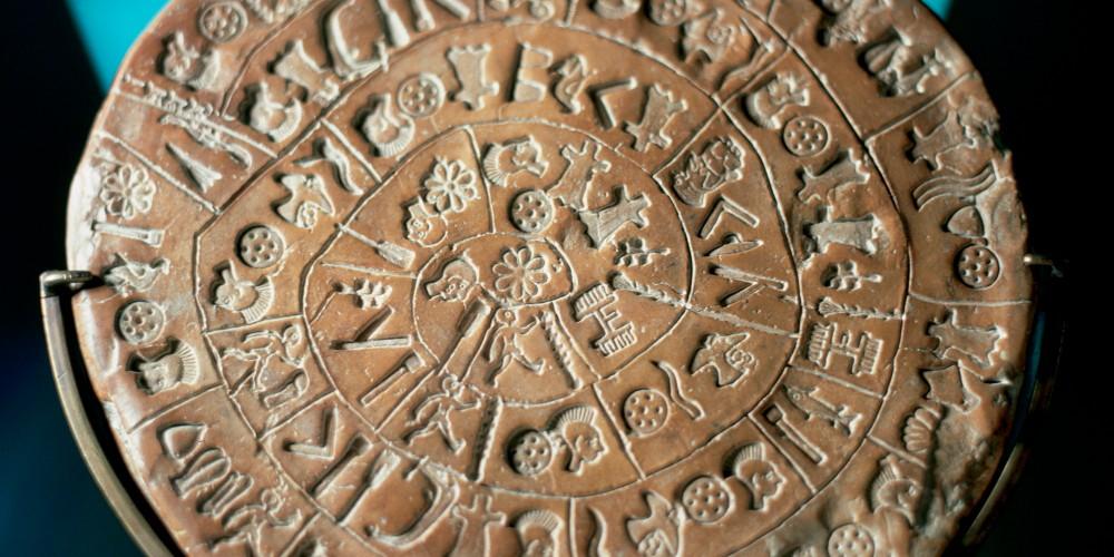 Minoan art. Crete. Phaistos Disc.