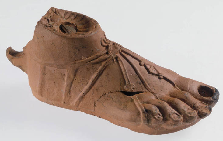Roman lamp in shape of foot